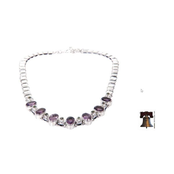 Shop Exuberance Purple Amethyst and Peridot Faceted Multi