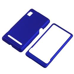 Dark Blue Rubber Coated Case for Motorola A955 Droid 2