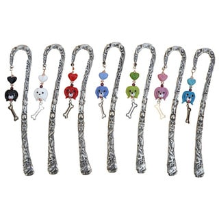 Link to Handmade Beadwork by Julie Pewter Beaded Dog Bookmark Similar Items in Planners & Accessories
