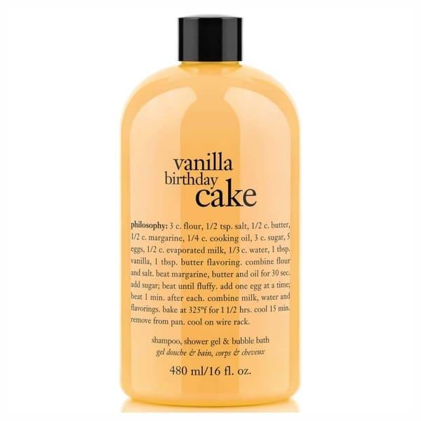 Groovy Shop Philosophy 16 Ounce Vanilla Birthday Cake Shampoo Shower Gel Funny Birthday Cards Online Ioscodamsfinfo