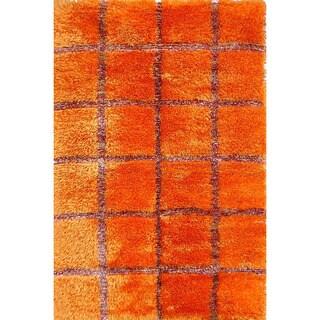M.A.Trading Safari Dual-side Orange Geometric Rug (5'6 x 7'10)