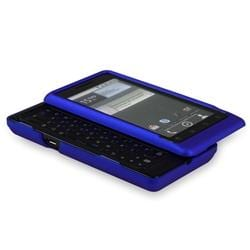 Dark Blue Rubber Case/ Screen Protector for Motorola Droid 2