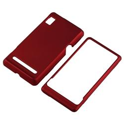 Wine Red Rubber Case/ Screen Protector for Motorola Droid 2 - Thumbnail 2