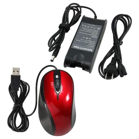 INSTEN Travel Charger/ USB Ergonomic Optical Mouse for Dell Inspiron 1501