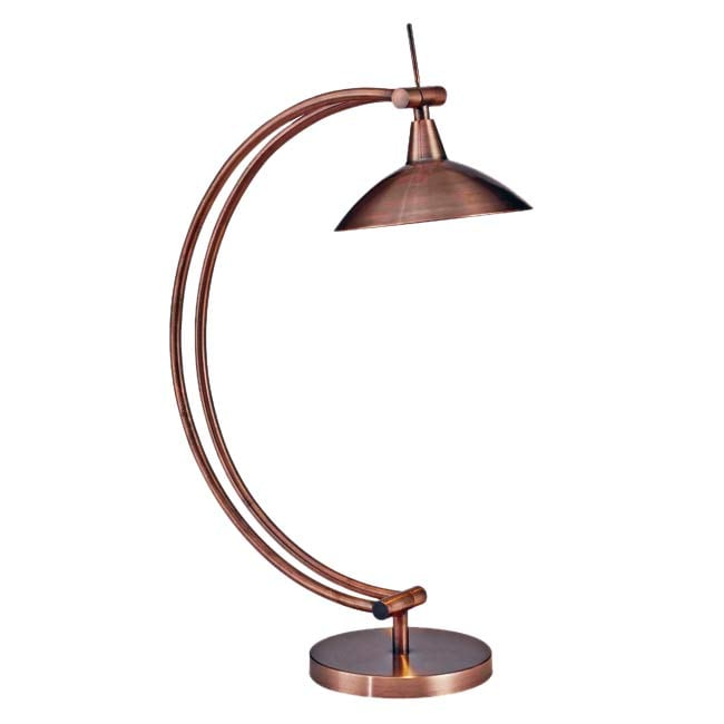 Anders 20-inch Vintage Copper Desk Lamp