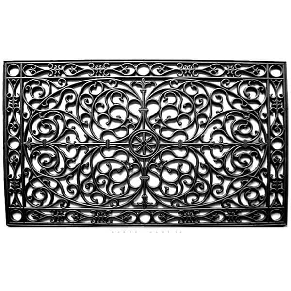 Shop Renaissance Rectangle Rubber Door Mat 30x48 Free