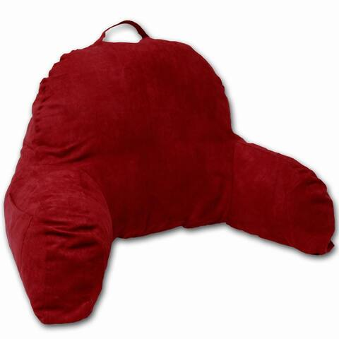Red Microsuede Bed Rest