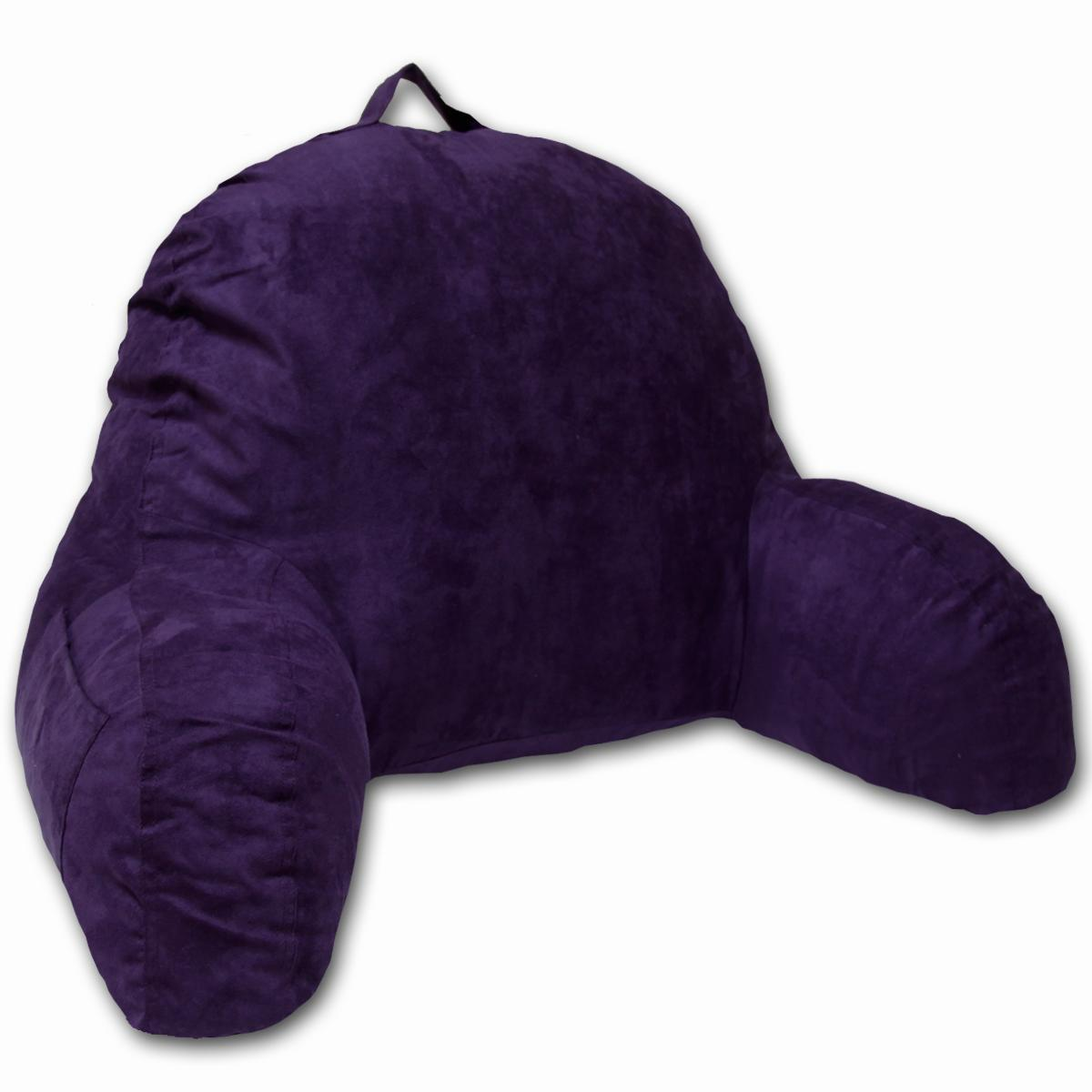 Purple Microsuede Bed Rest
