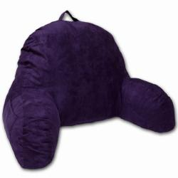 Purple Microsuede Bed Rest Pillow