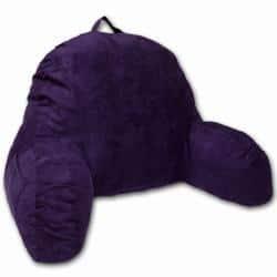 Purple Microsuede Bed Rest