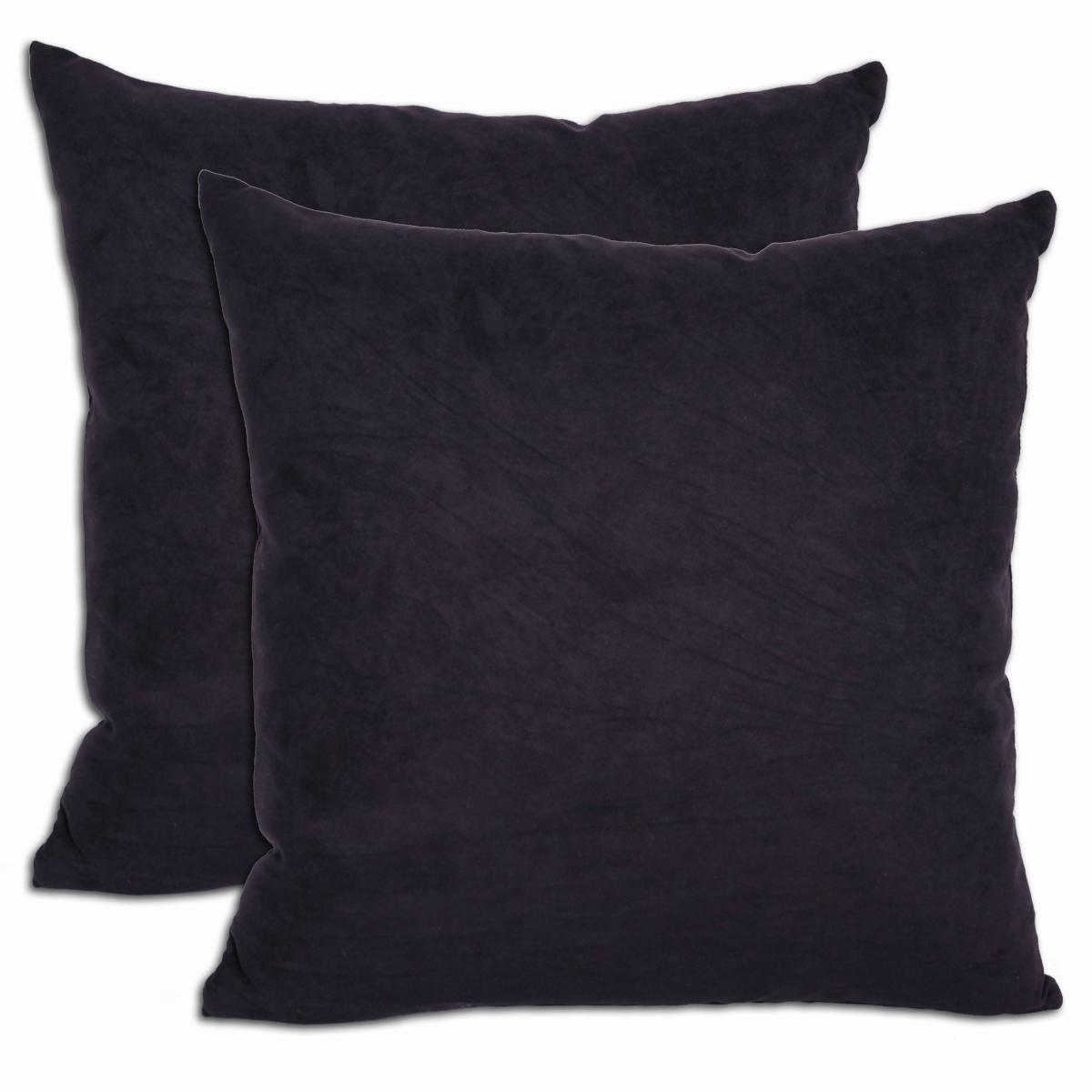 Shop Black Microsuede Feather And Down Filled Throw