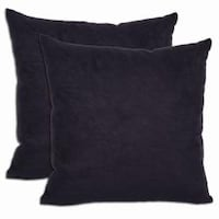 Shop Eire Solid 24 Inch Feather Throw Pillow Black On Sale