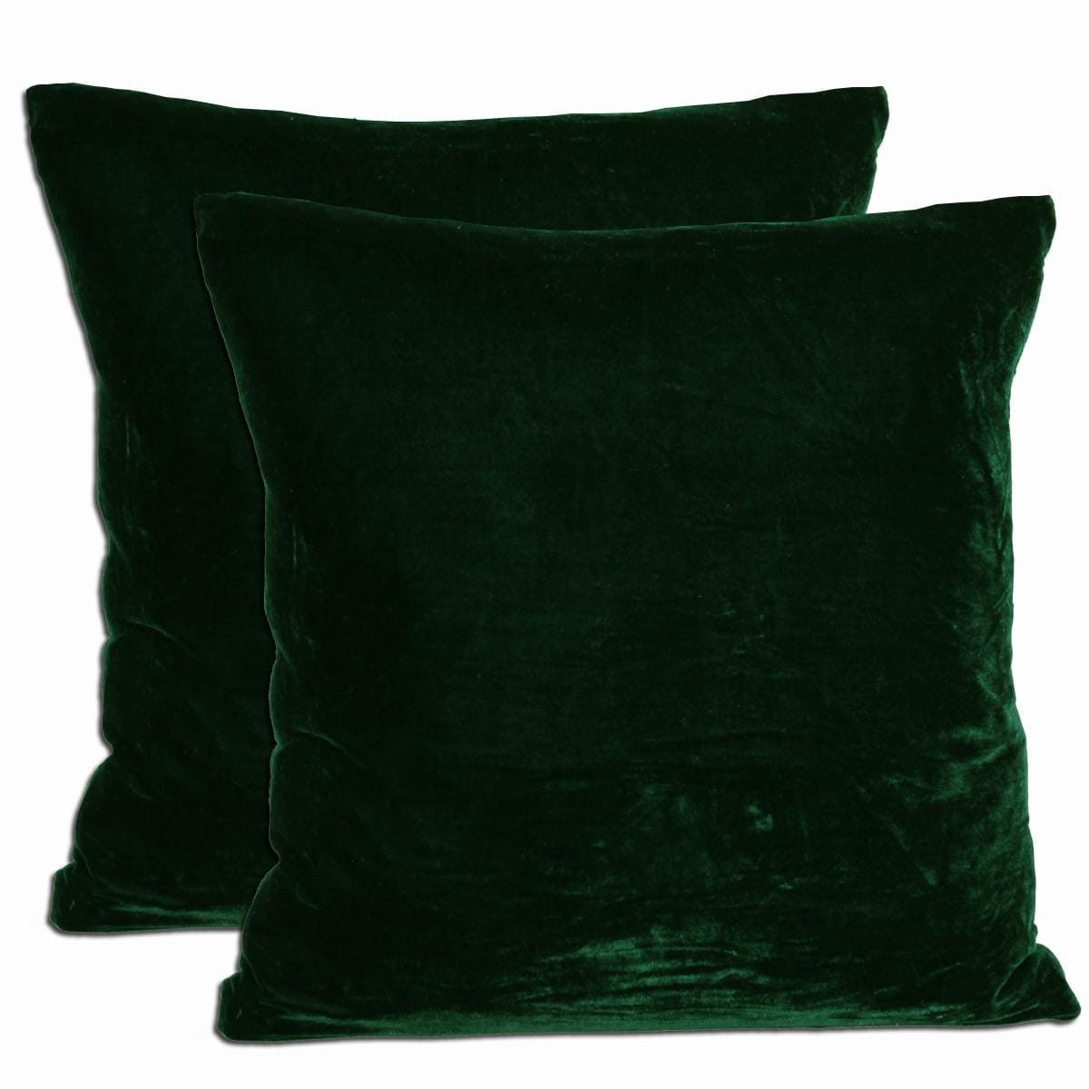 Kelly green velvet curtains - Green Velvet Feather And Down Filled Throw Pillows Set Of 2
