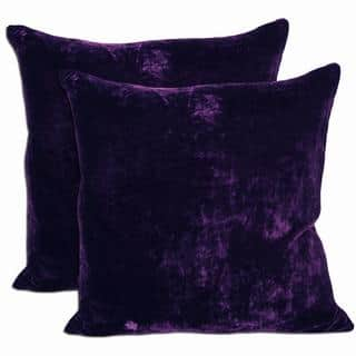 Purple Velvet Feather and Down Filled Throw Pillows (Set of 2)|https://ak1.ostkcdn.com/images/products/5643394/P13396314.jpg?impolicy=medium