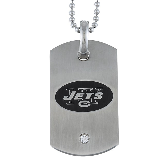 Stainless Steel New York Jets Dog Tag