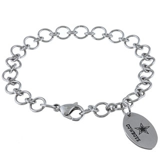 Shop Stainless Steel Dallas Cowboys Charm Bracelet Free