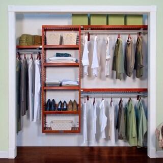 John Louis Home Premier 12 Inch Red Mahogany Closet System