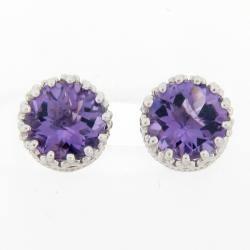 Meredith Leigh Sterling Silver Crown Amethyst Stud Earrings https://ak1.ostkcdn.com/images/products/5647121/73/790/Meredith-Leigh-Sterling-Silver-Crown-Amethyst-Stud-Earrings-P13399118.jpg?impolicy=medium