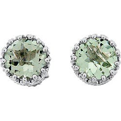 Meredith Leigh Sterling Silver Crown-set Green Amethyst Stud Earrings https://ak1.ostkcdn.com/images/products/5647122/Meredith-Leigh-Sterling-Silver-Crown-set-Green-Amethyst-Stud-Earrings-P13399119.jpg?impolicy=medium