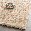 Safavieh Handmade Malibu Shag Natural Beige Polyester Rug (8' x 10')