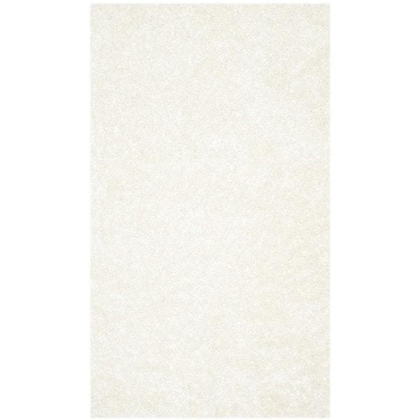 Safavieh Handmade Malibu Shag White Polyester Runner (2'6 x 4')