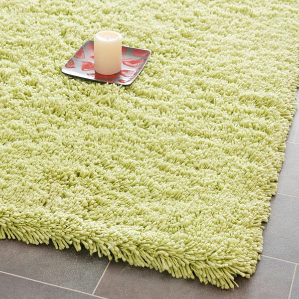 Lime Green Overdyed Rug: Shop Safavieh Classic Ultra Handmade Lime Green Shag Rug