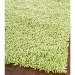 Safavieh Classic Ultra Handmade Lime Green Shag Rug (7' Square) - Thumbnail 1