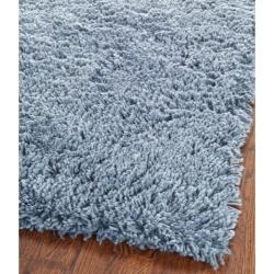 safavieh classic ultra handmade light blue shag rug 3 39 x 5 39 free shipping today overstock. Black Bedroom Furniture Sets. Home Design Ideas