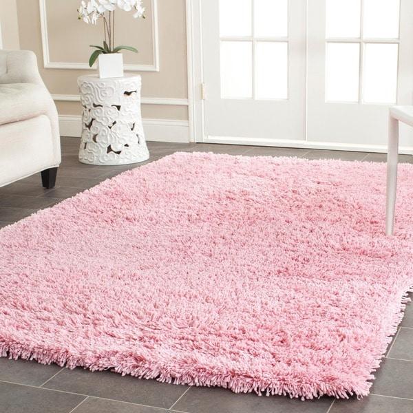 safavieh classic ultra handmade pink shag rug (5' x 8') - free