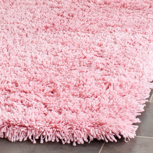 Safavieh Classic Ultra Handmade Pink Shag Rug 6u0027 X