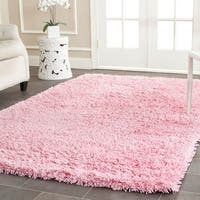 Safavieh Classic Ultra Handmade Pink Shag Rug - 7' x 7' Square