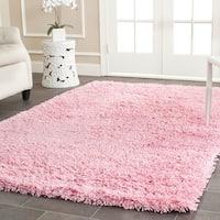 Safavieh Classic Ultra Handmade Pink Shag Rug - 7'6 x 9'6