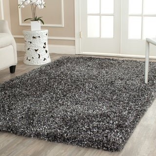 Safavieh Handmade Malibu Shag Charcoal Grey Polyester Rug (8' x 10')