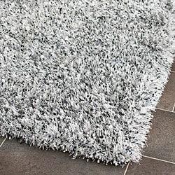 Safavieh Hand-tufted Malibu Shag Silver Polyester Rug (2'6 x 4')