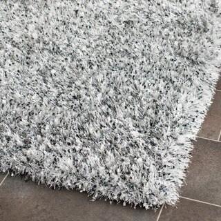 Safavieh Handmade Malibu Shag Silver Polyester Runner (2'6 x 4')