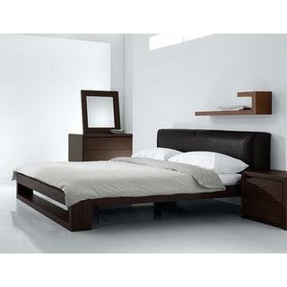 Fenton Modern Dark Brown Queen Platform Bed