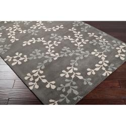 Hand-tufted Painterly Grey Wool Rug (3'3 x 5'3) - Thumbnail 1