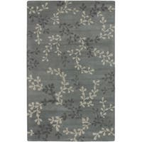 Hand-tufted Painterly Grey Wool Area Rug (3'3 x 5'3)
