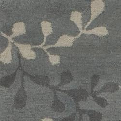 Hand-tufted Painterly Grey Wool Rug (5' x 8') - Thumbnail 2