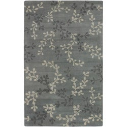 Hand-tufted Painterly Grey Wool Area Rug (5' x 8') - Thumbnail 0