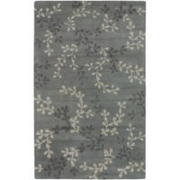 Hand-tufted Painterly Grey Wool Area Rug (5' x 8')
