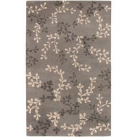 Hand-tufted Painterly Grey Wool Area Rug - 5' x 8'