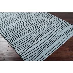 Hand-tufted Stripe Painterly Wool Rug (5' x 8')