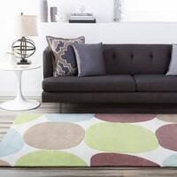 "Hand-tufted Contemporary Multi Colored Circles Rocky Road Abstract Area Rug - 3'6"" x 5'6"""