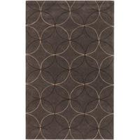 "Hand-tufted Contemporary Brown Retro Chic Brown Geometric Abstract Area Rug (3'6 x 5'6) - 3'6"" x 5'6"""
