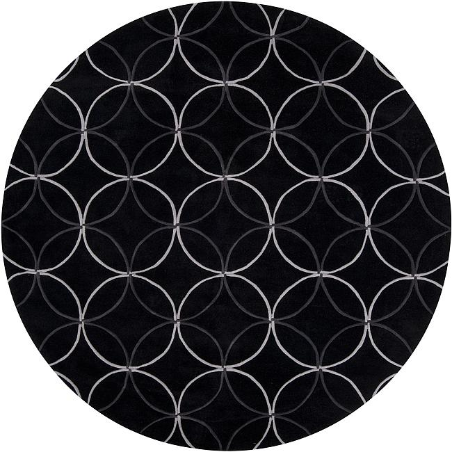 Black And White Geometric Rugs For Sale: Shop Hand-tufted Contemporary Retro Chic Green Black