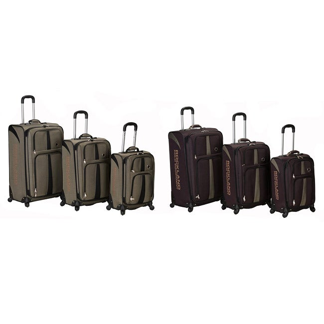 Rockland Polo Equipment Expandable 3-pc Luggage Set (Khak...