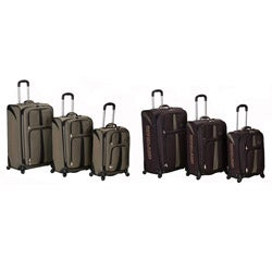 Rockland Polo Equipment Expandable 3-pc Luggage Set