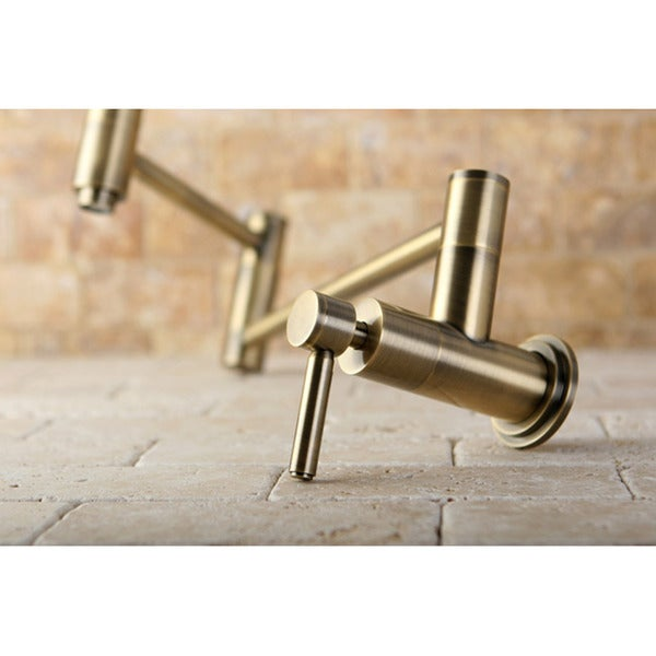 Concord Antique Brass Pot Filler Faucet - Antiqued Brass