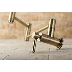 kitchen wall faucet 1950's concord antique brass pot filler faucet antiqued buy wall mount kitchen faucets online at overstockcom our best